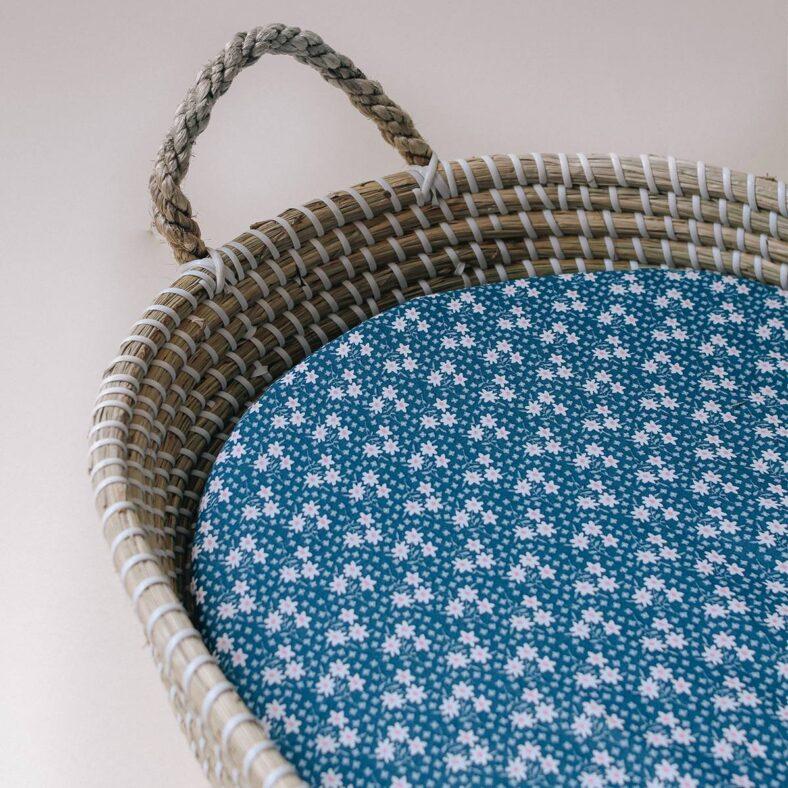 bajera algodon flores azules
