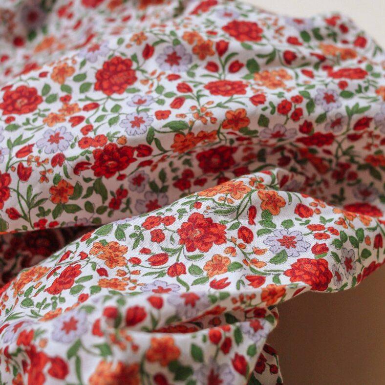 detalle estampado bajera flores melibea