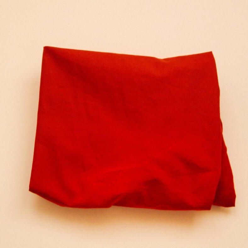 bajera cambiador capazo rojo teja detalle doblada