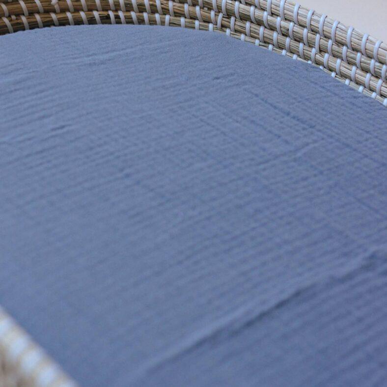 bajera muselina gris azulado detalle