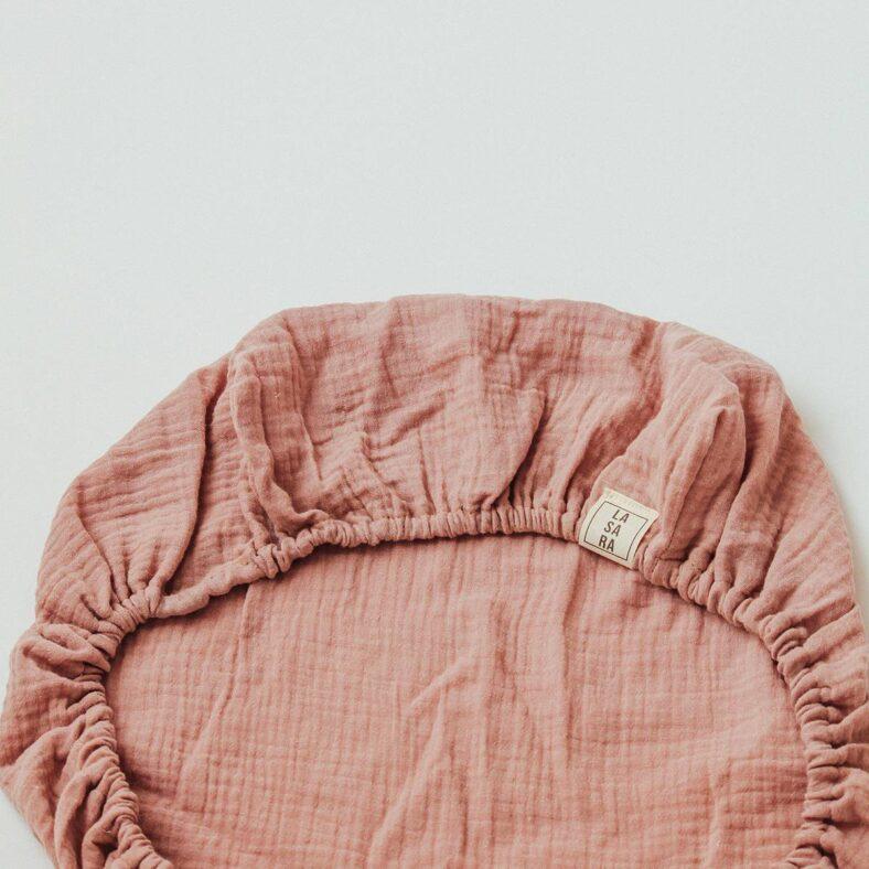 bajera muselina rosa orgánico capazo vista reverso