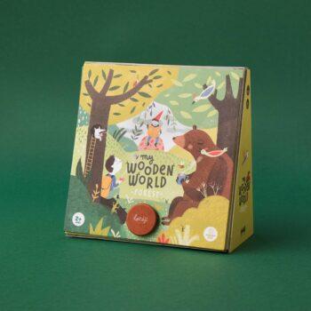 juguete de madera bosque y animales
