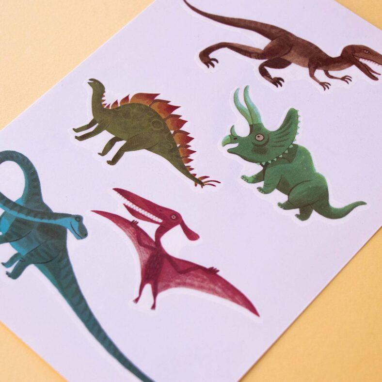 calcomanía tattoos dinosaurios dibujos 1