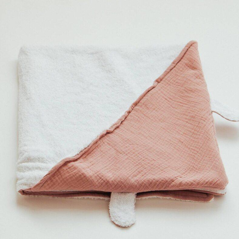 Capa de baño de rizo de algodón y muselina orgánica