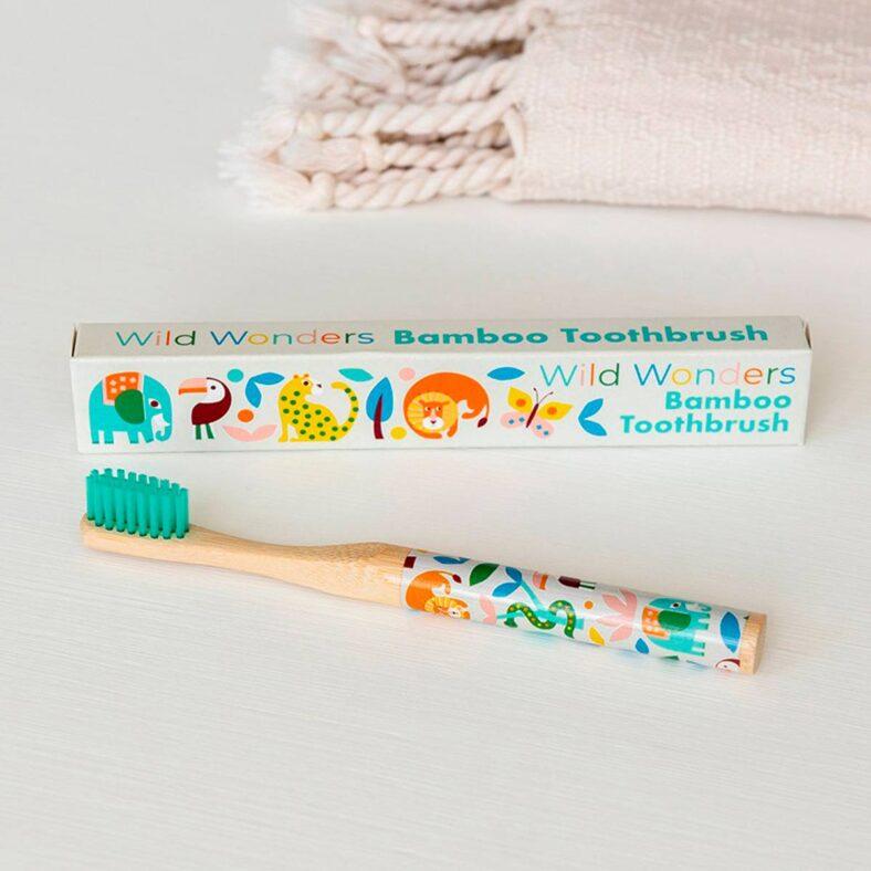 cepillo dientes bambu infantil