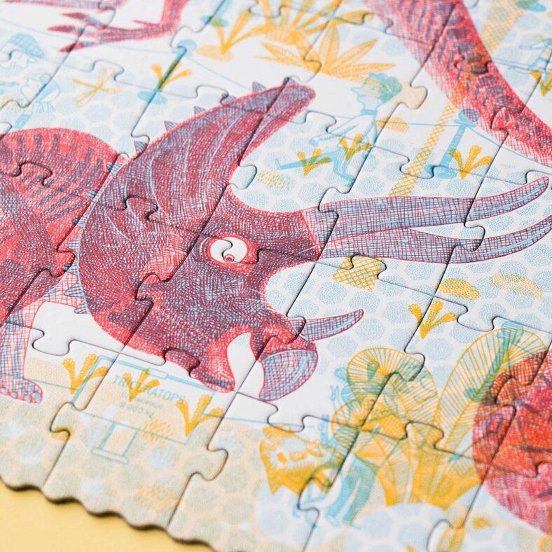 puzle descubre los dinosaurios detalle puzle