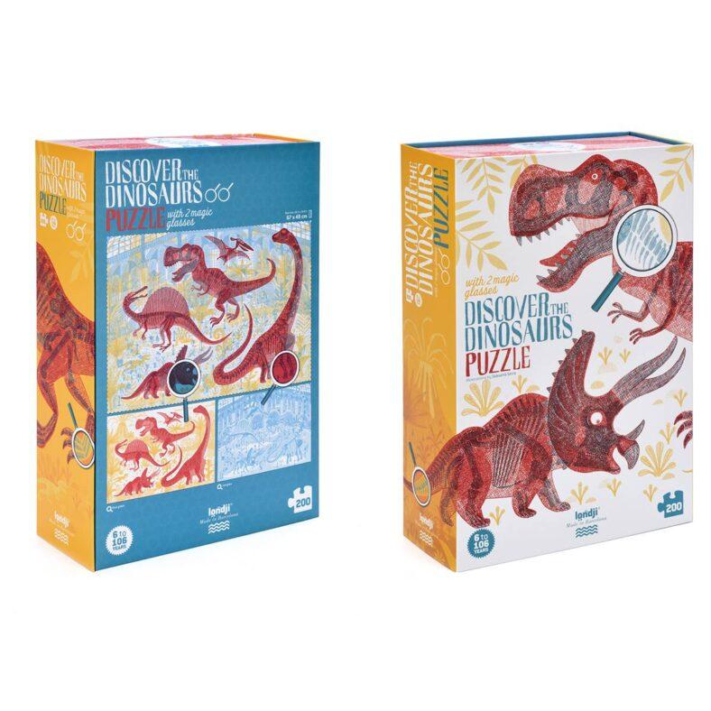 puzle descubre los dinosauriospuzle descubre los dinosaurios caja delante y detras