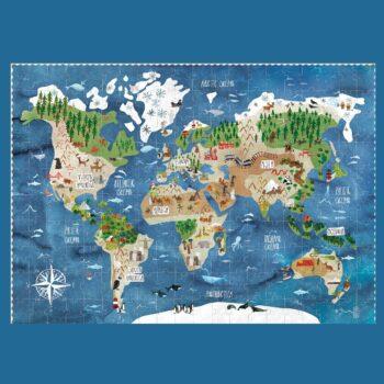 puzle descubre el mundo vista puzle completo