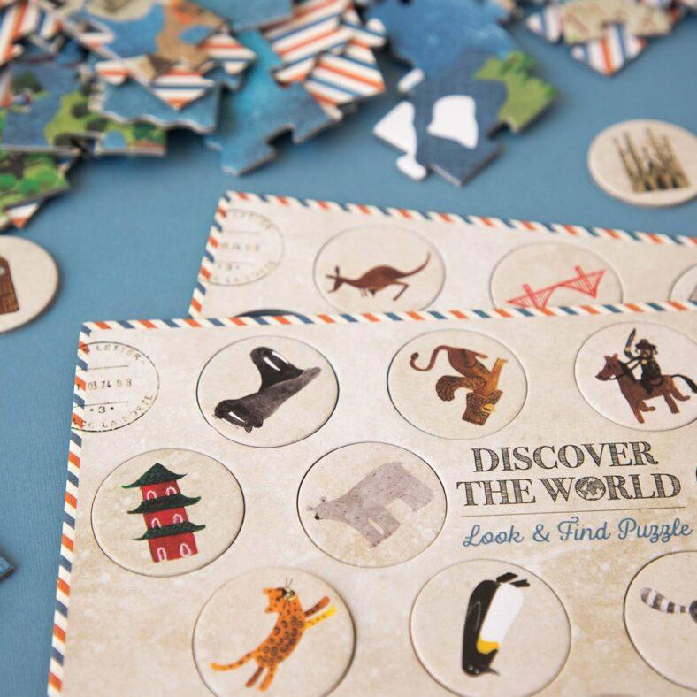 puzle descubre el mundo fichas países