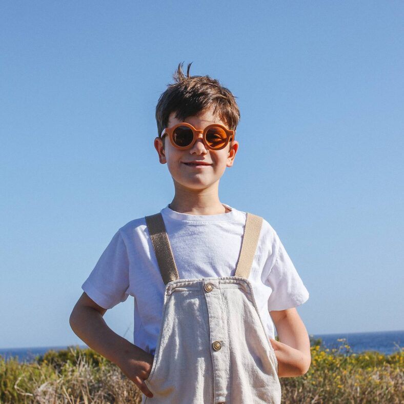 gafas sol infantil naranja niño