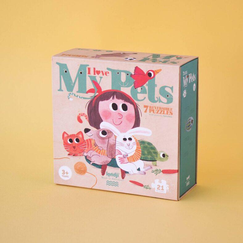 puzle i love my pets caja exterior