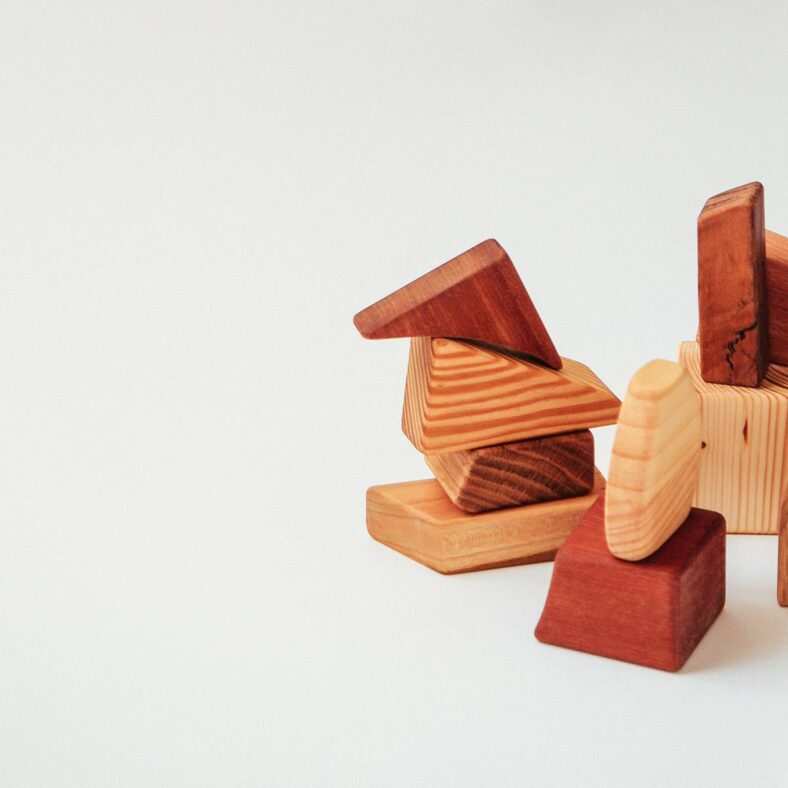 Juguete de construcción de madera