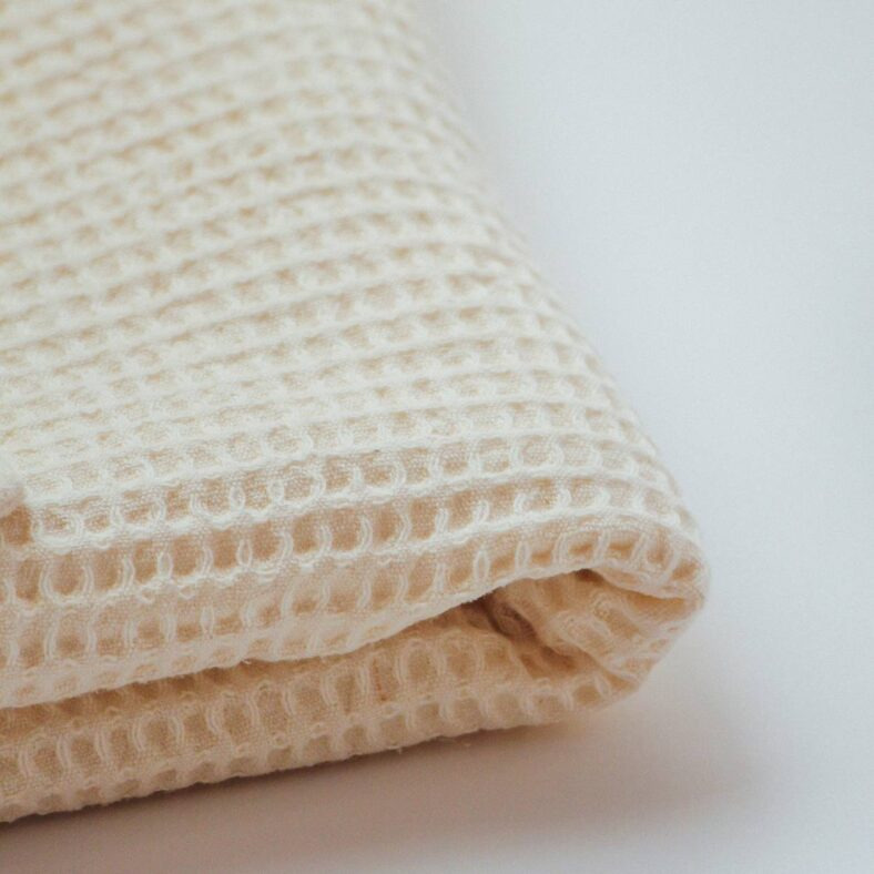 textura manta waffle natural