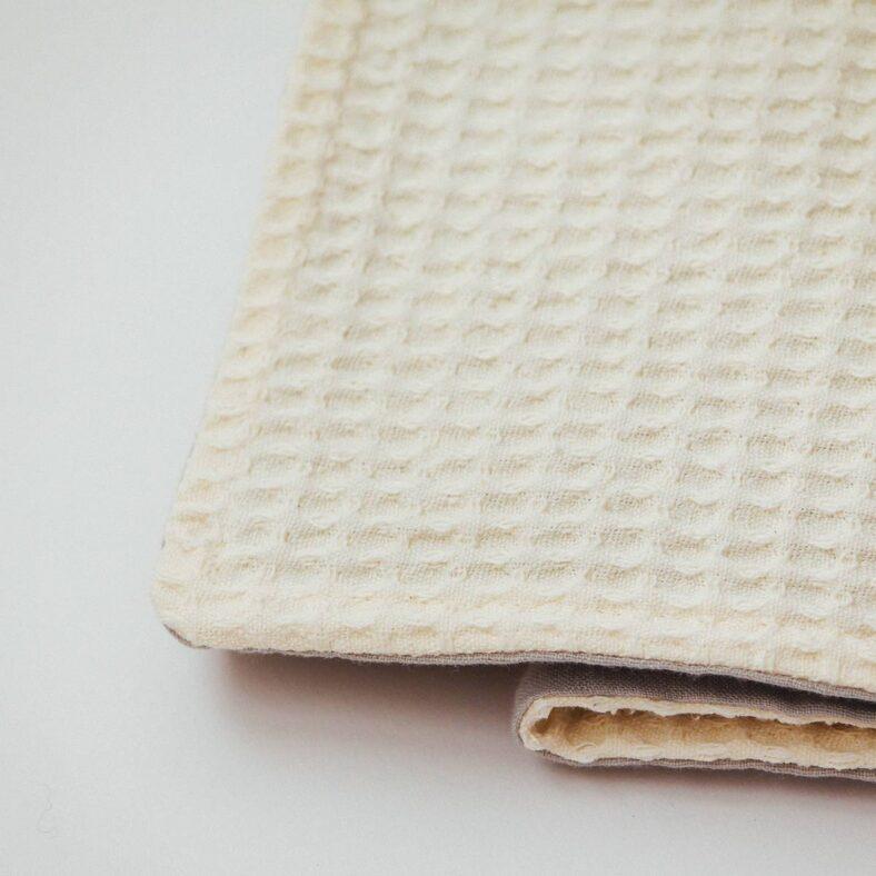 manta lino gofre textura interior