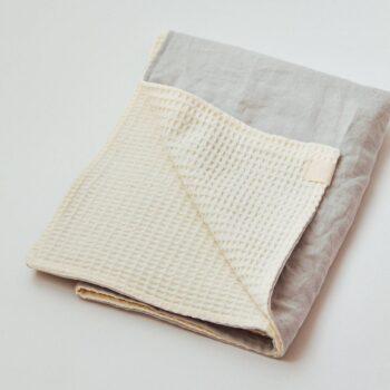 manta lino gofre