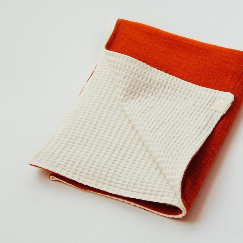 shiraz manta rojo gofre