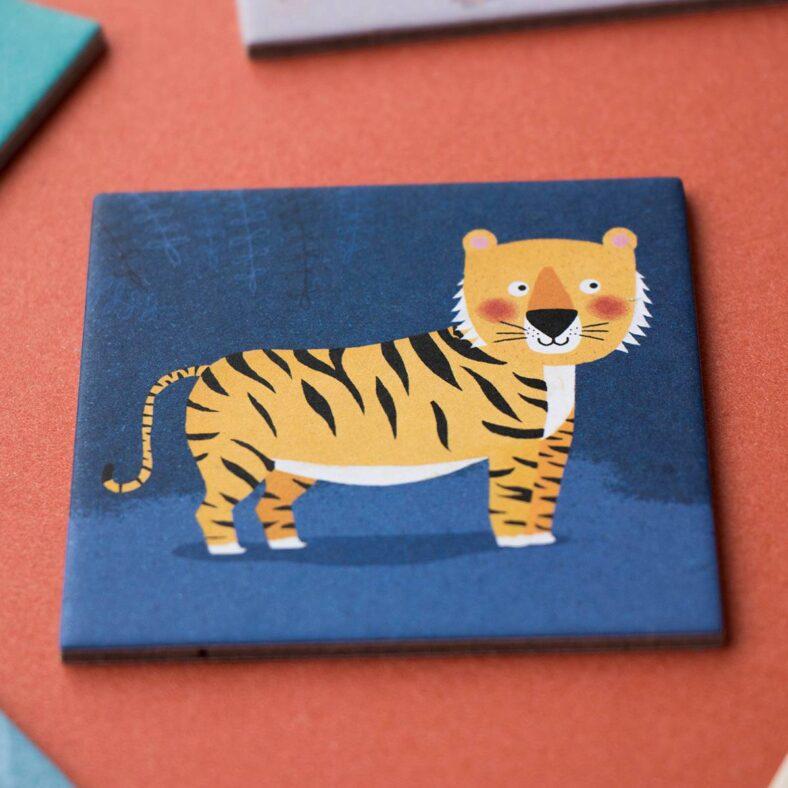 juego memory de animales detalle ficha tigre