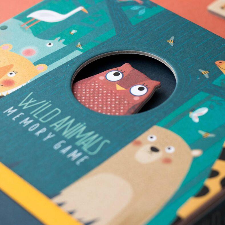 juego memory de animales detalle caja