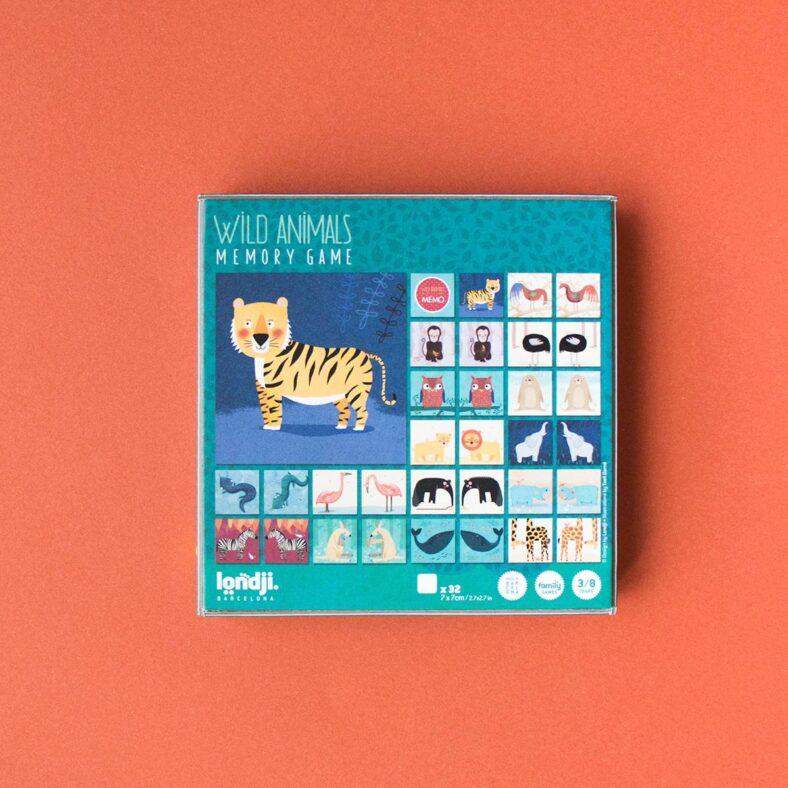 juego memory de animales caja detras
