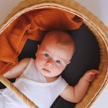 bebe con muselina ginger organica