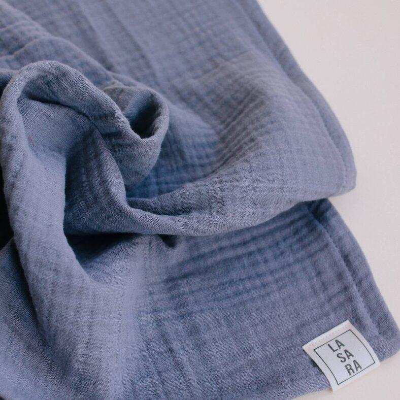 muselina gris azulado organica