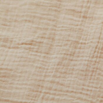 detalle muselina blanco crudo orgánico