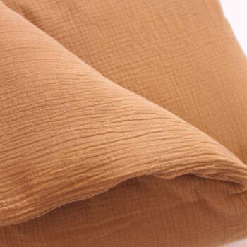 textura funda nordico edredon muselina cafetito marron moca