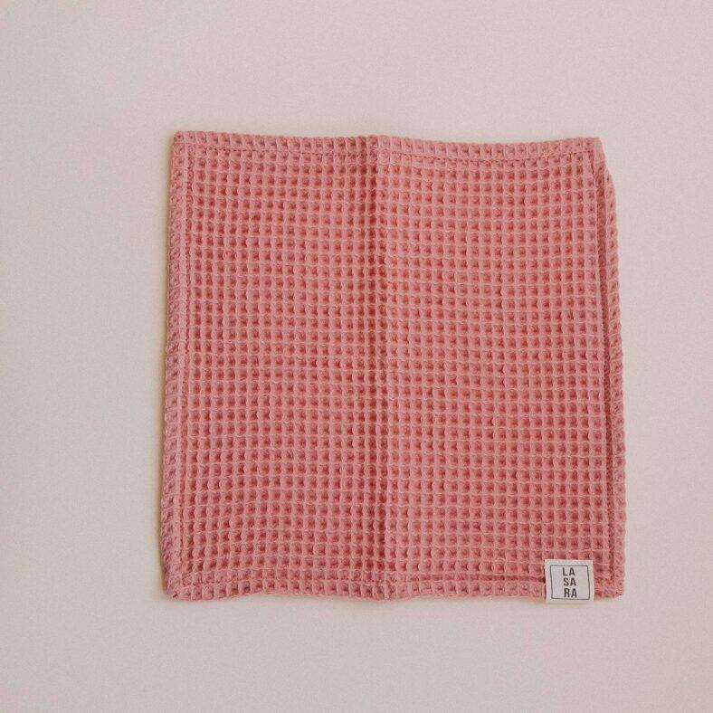 toallita paño lactancia waffle rosa