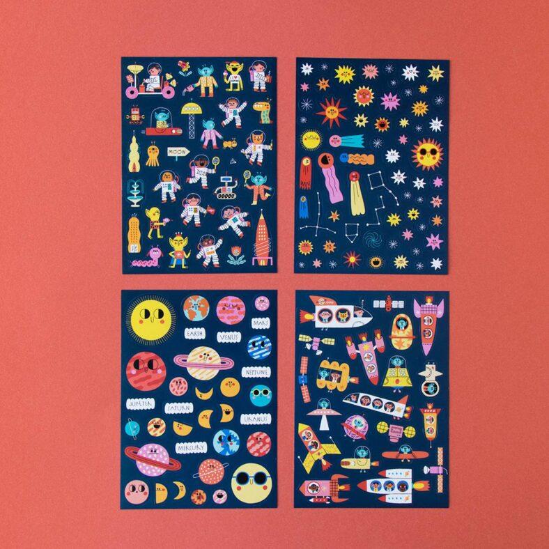 libro de pegatinas del espacio todas las pegatinas
