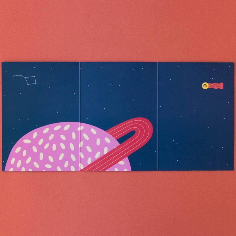 libro de pegatinas del espacio librio vacío planeta