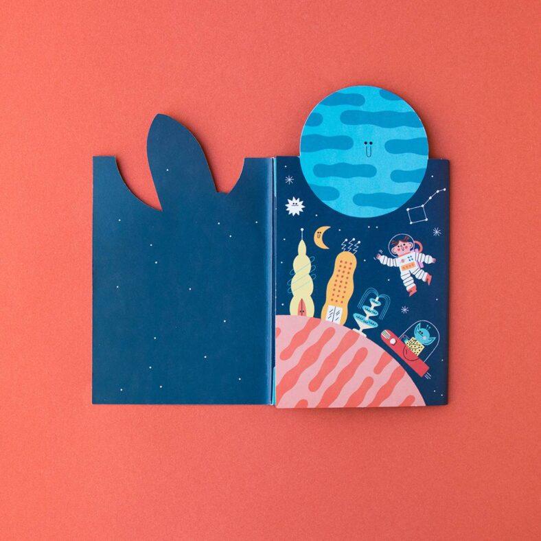 libro de pegatinas del espacio libro abierto