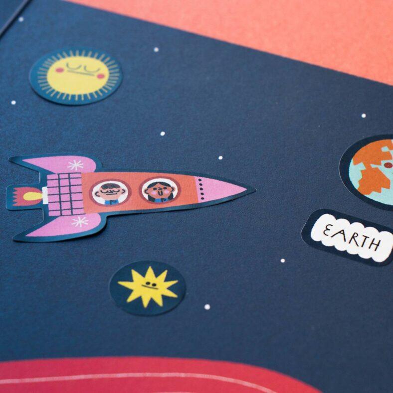 libro de pegatinas del espacio detalle pegatinas