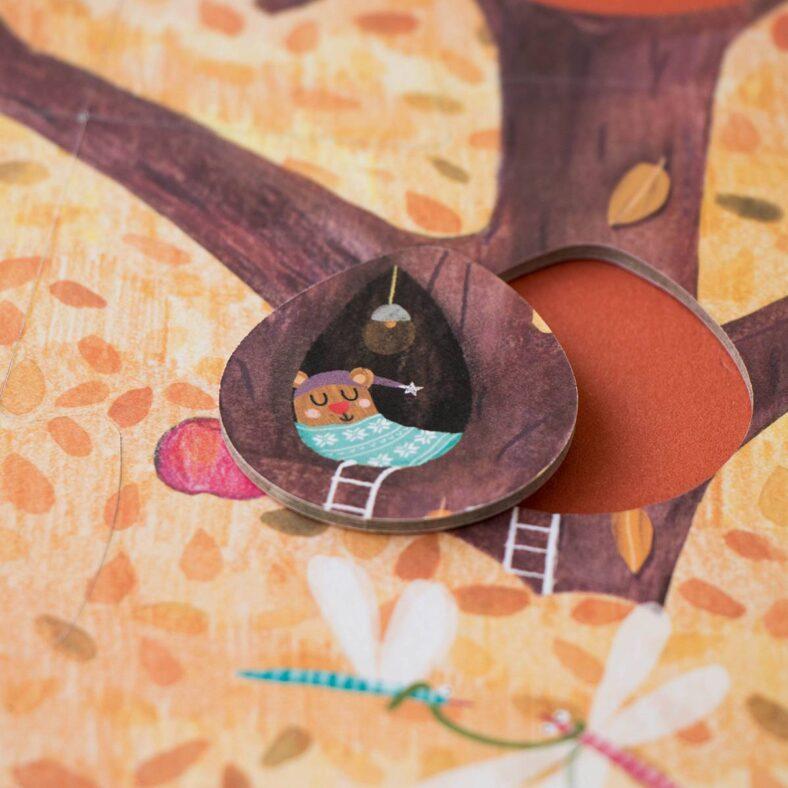 puzle arbol mon petit pommier detalle otoño dormir
