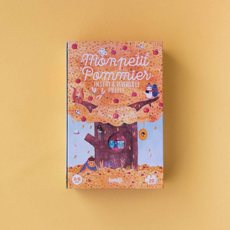 puzle arbol mon petit pommier otoño caja