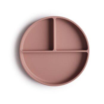 Plato de silicona malva de Mushie