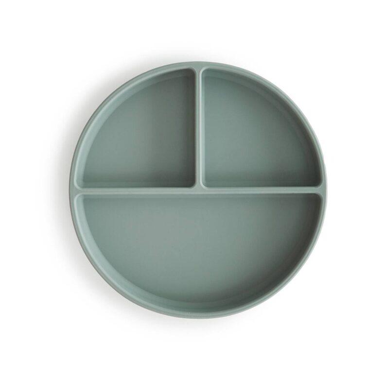 Plato de silicona verde de Mushie