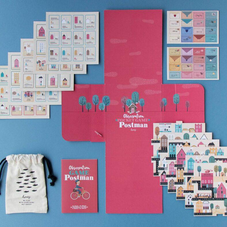 juego de mesa postman version viaje pocket vista todas las piezas