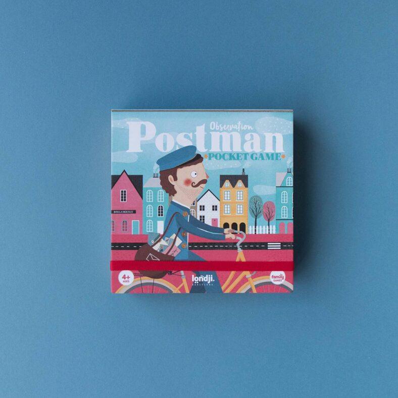 exterior caja juego de mesa postman version viaje pocket