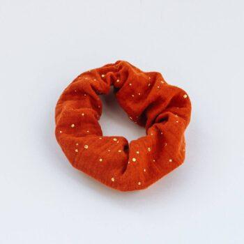 scrunchie rojo topos