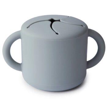 Vaso de snacks azul de Mushie