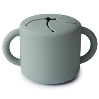 Vaso de snacks verde de Mushie
