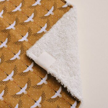 detalle paño lactancia toallita grullas