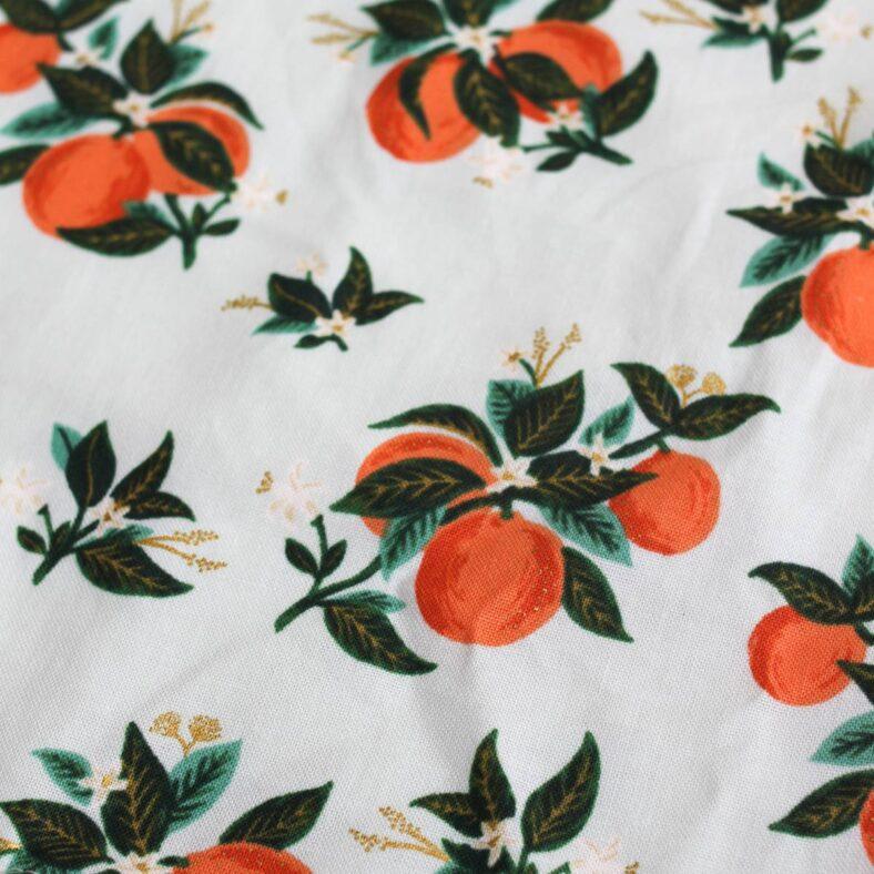 toallita paño lactancia naranjas estampado
