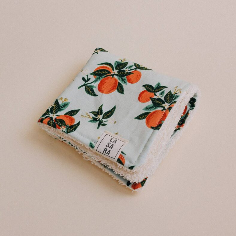toallita paño lactancia naranjas dobaldo doble