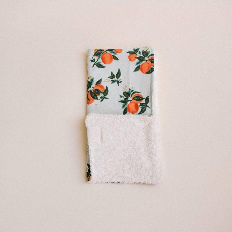toallita paño lactancia naranjas esquina