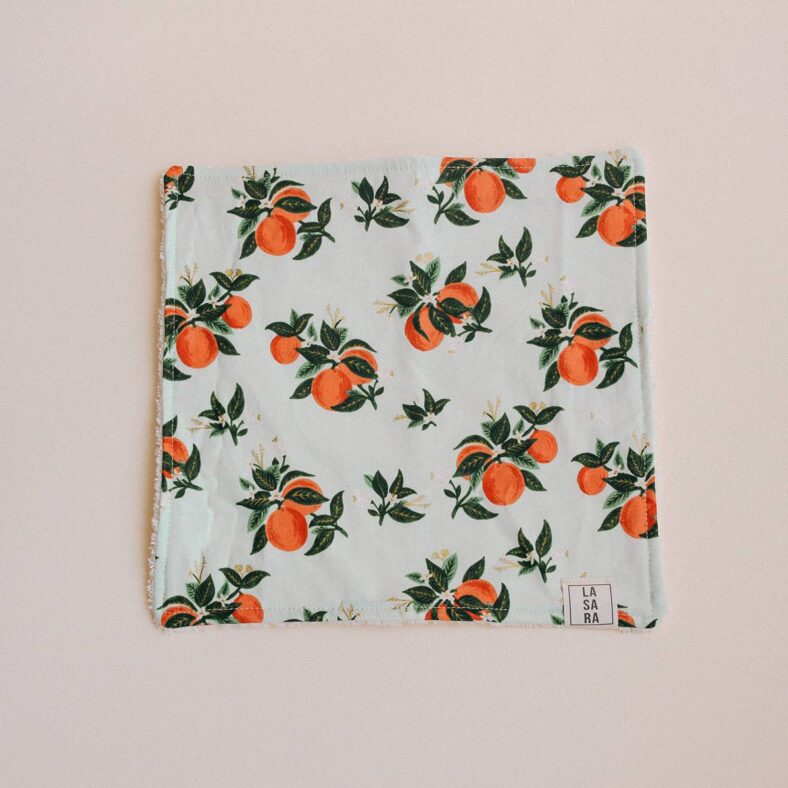 toallita paño lactancia naranjas
