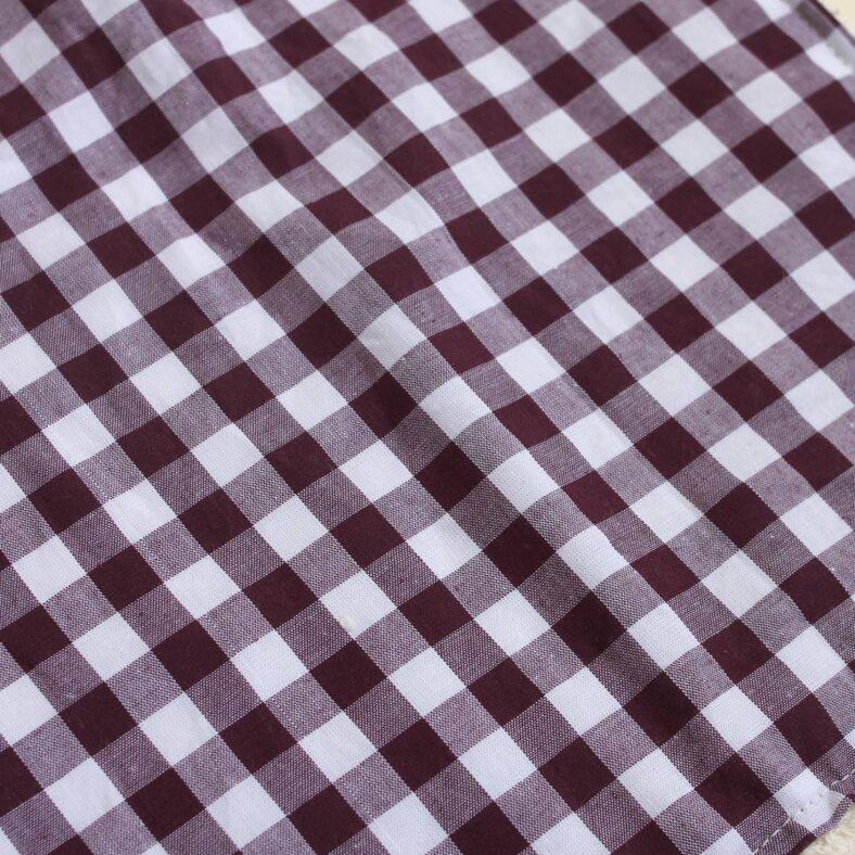 detalle estampado toallita paño lactancia vichy