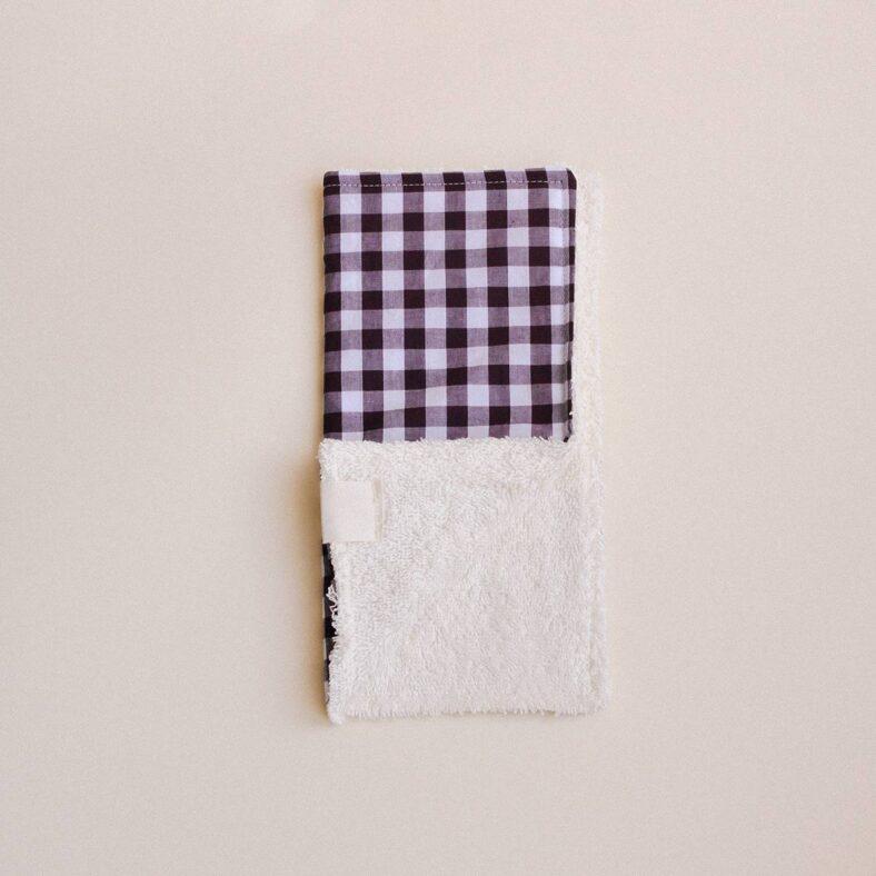 toallita paño lactancia vichy esquina doblada
