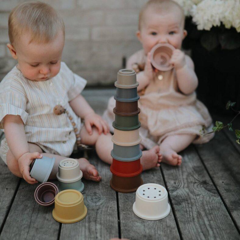 vasitos apilables msushie retro niños